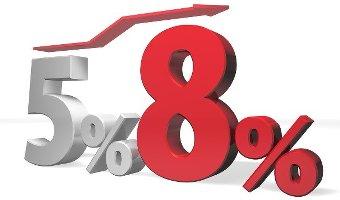 5%から8%に上がった時はどうだったのか?